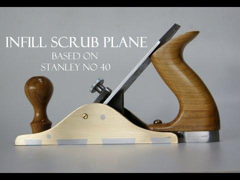 006 Infill scrub plane - based on Stanley no 40 hand plane #TOOLMAKE18 Strug ręczny zdzierak