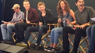 The Maze Runner Cast Interview with Will Poulter, Kaya Scodelario, Thomas Sangster, Dylan O'Brien
