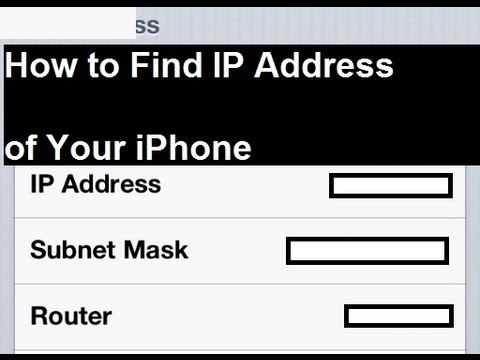 how to check ip address on iphone how to find the ip address of your iphone 19912