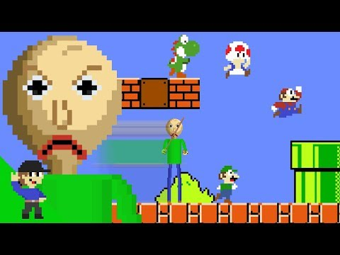 Baldi would be OP in Super Mario Bros.