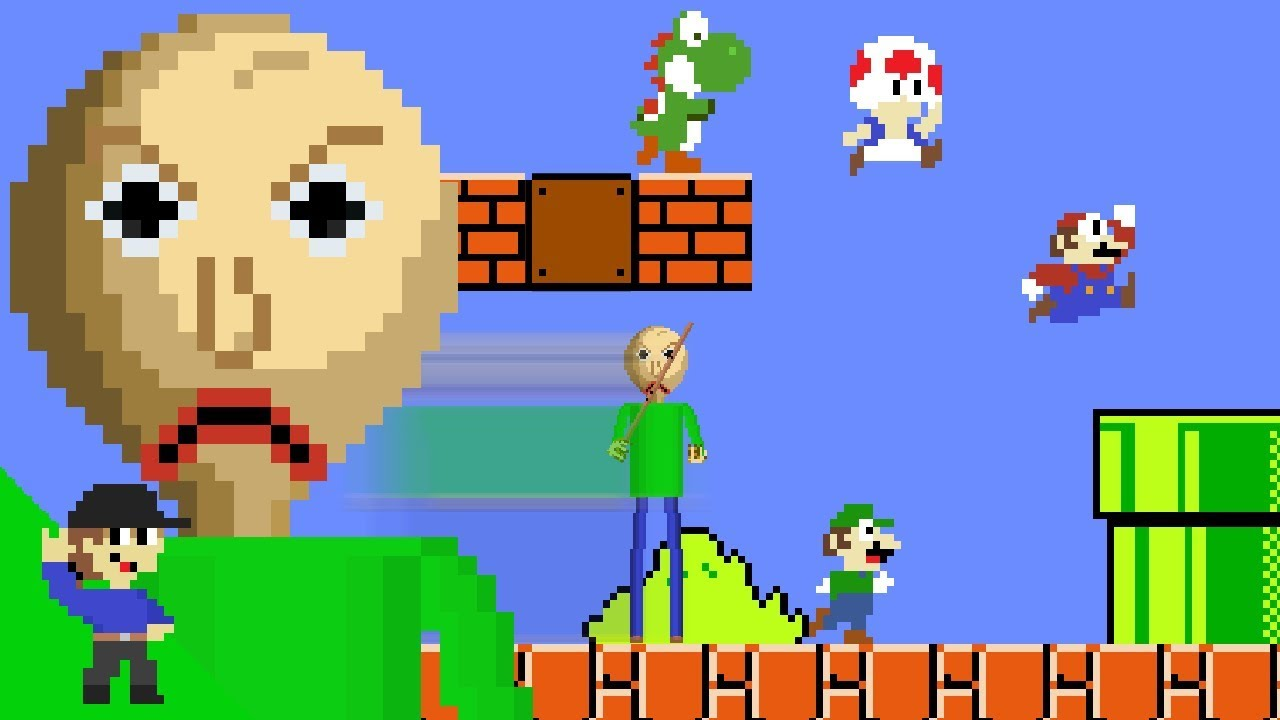 Baldi would be OP in Super Mario Bros.