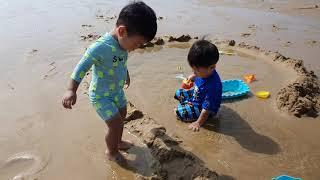 대장브라더스 바다여행 - 만리포 해수욕장