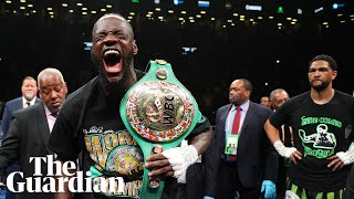 'I'm a different species': Deontay Wilder buoyant after first-round KO of Dominic Breazeale