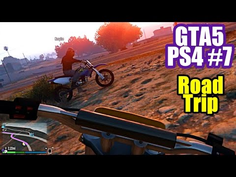 FIRST PERSON DIRT BIKE ROAD TRIP - GTA 5 Adventures w/Friend (PS4)