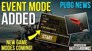 EVENT MODE ADDED TO PUBG! - Flare Gun Coming - PUBG News