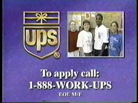 UPS United Parcel Service Commercials 1998