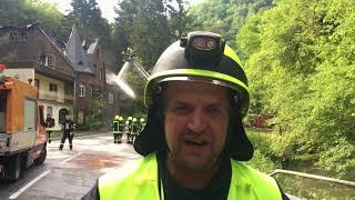 Burgener Hotel wird Raub der Flammen
