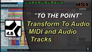 Transform To Audio   MIDI and Audio Tracks