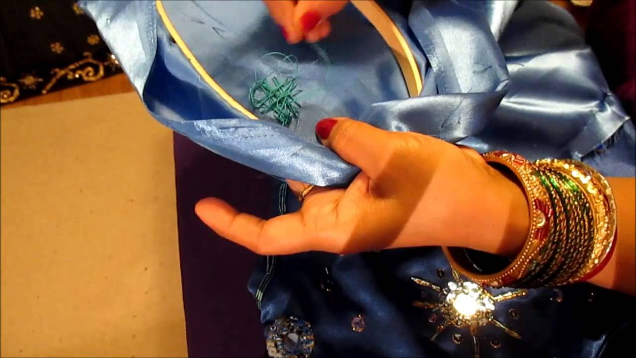 How To Sew Mirrors On A Salwar Kameez And Decorate It With Beads And Sequins