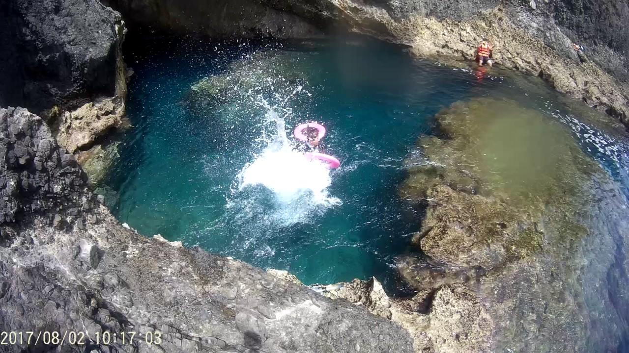 【旅人修遊記】20170802綠島藍洞跳水 - YouTube