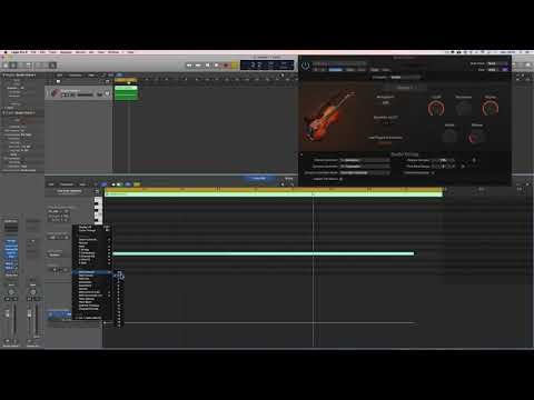 Logic Pro X 10.4 Articulations & Controllers with Studio Str