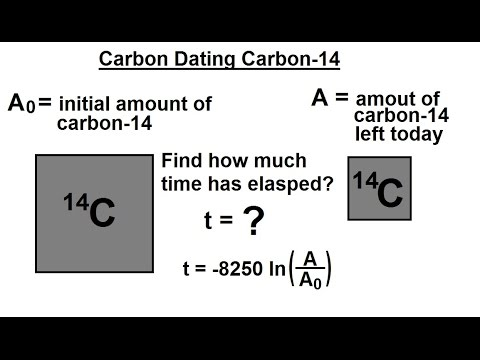 What is an example of radiocarbon dating