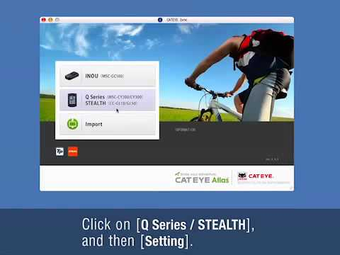 Computer Setup Stealth 10 And 50 Cateye Bicycle Electronics Youtube