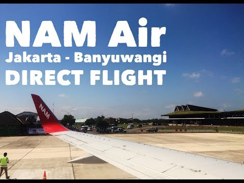 Landing at Blimbingsari Airport Banyuwangi by NAM Air Boeing 737-500