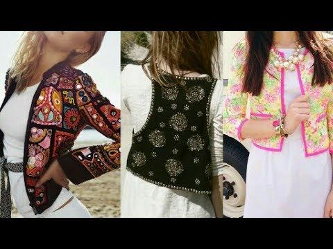 Latest New Jacket Style For Girl Dress Kurti Kameez Lehnga Top