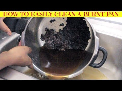 How to Easily Clean a Burnt Pan | Burnt Pressure Cooker | Cleaning Tips | Yummieliciouz Food Recipes