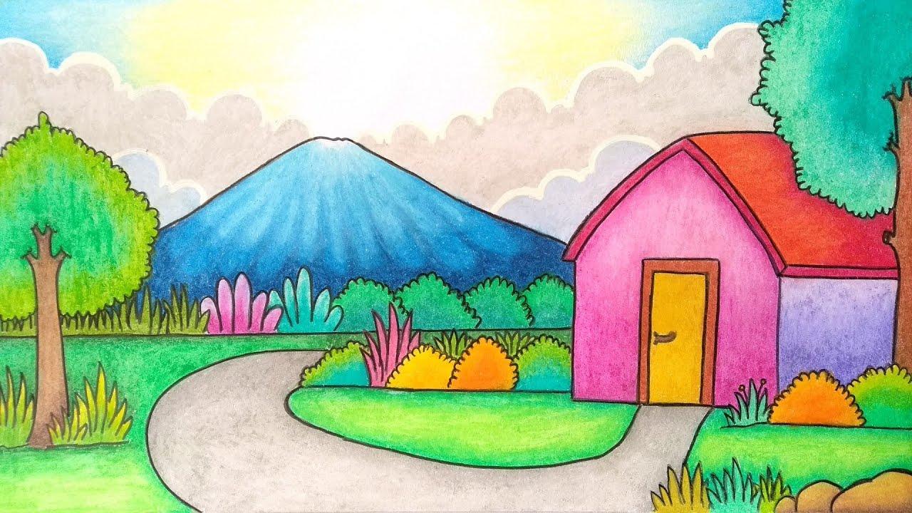 Gambar Pemandangan Pegunungan Dan Pedesaan