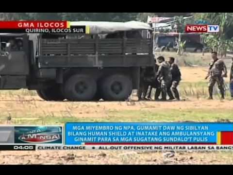 Mga miyembro ng NPA, gumamit din daw ng sibilyan bilang human shield sa Quirino, Ilocos Sur