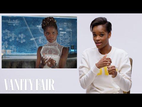 Black Panther's Letitia Wright Breaks Down Wakandan Technology   Vanity Fair
