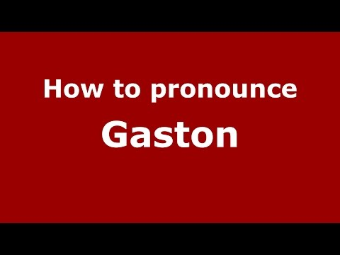 How to pronounce Gaston (Romanian/Romania)  - PronounceNames.com