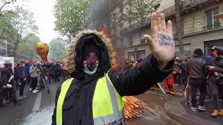 باريس.. مواجهات بين الشرطة ومتظاهرين في يوم العمال