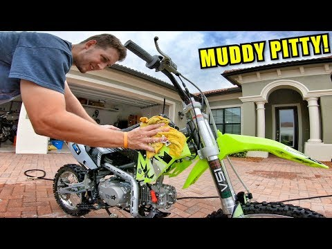 CLEANING UP THE PIT BIKE!