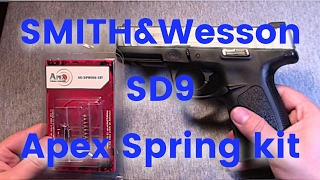 Video Smith and Wesson SD9VE Apex Spring kit range test and install download MP3, 3GP, MP4, WEBM, AVI, FLV Januari 2018