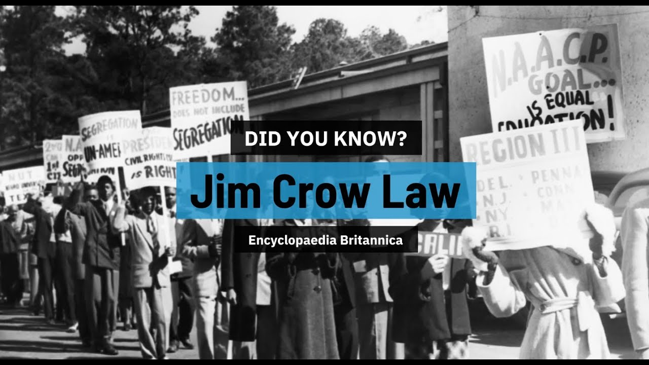 Did You Know Jim Crow Laws Encyclopaedia Britannica Youtube