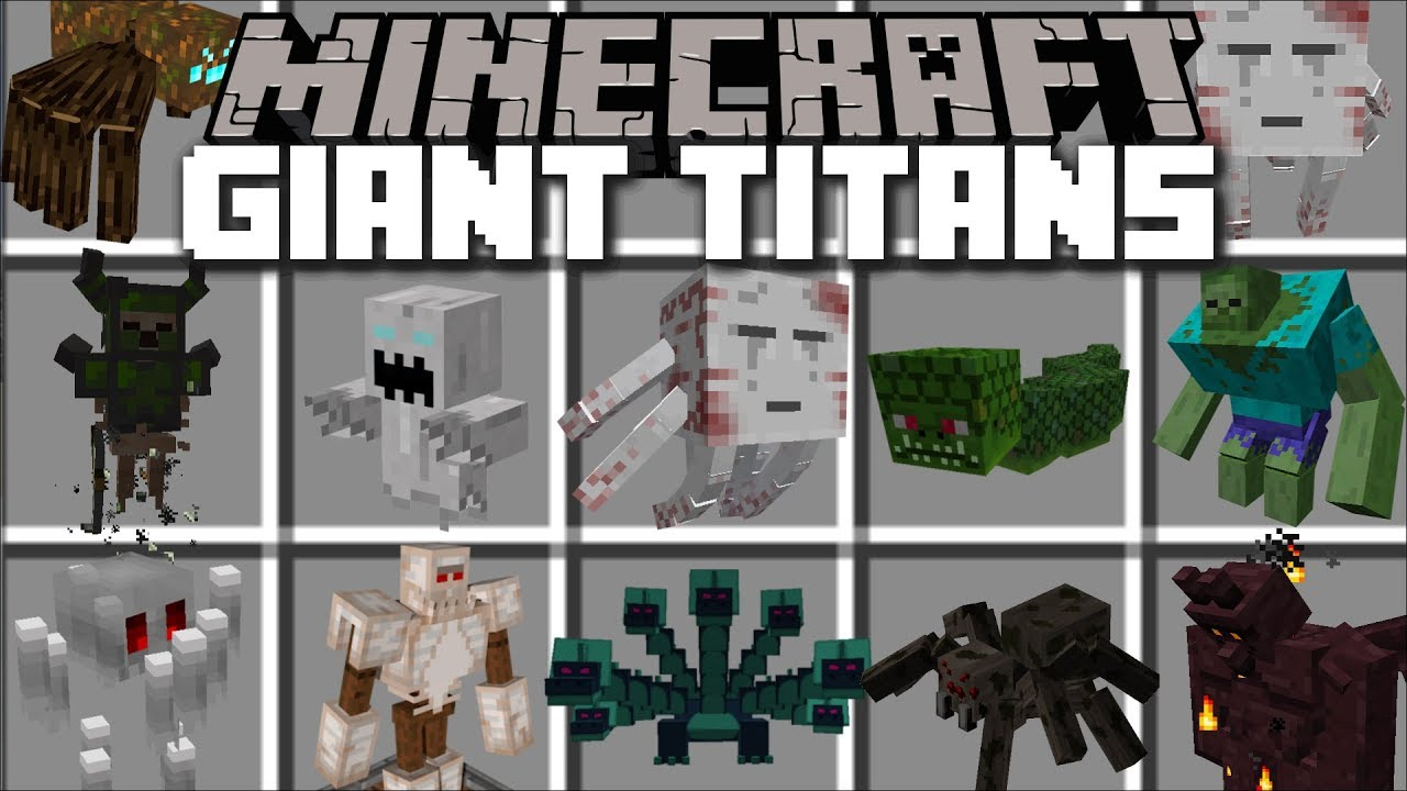 Minecraft GIANT TITANS MOD / FIGHT OFF EVIL GIANTS MOBS AND WIN THE BATTLE!! Minecraft