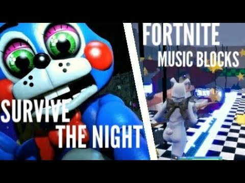 Survive The Night - MandoPony | FNAF 2 Song | Fortnite Music Blocks Cover