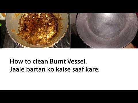 how to clean burnt pots and pans  in 5 Mins - how to clean burnt pots and pans in hindi