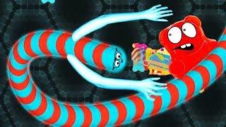 WORMATE   Безумный Червяк Мультфильм Игра клон SLITHER IO И WORMAX IO! Съели с мамой кучу сладостей!