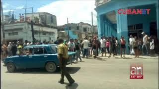 Cacerolazo en el barrio de San Leopoldo en Centro Habana en protesta por la falta de agua