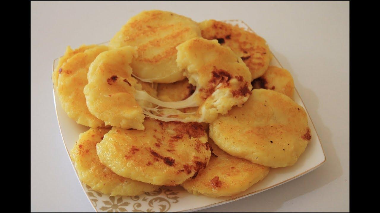 Sadece 2 MALZEME İle  Kahvaltılık Tavada Mini Patatesli Börek Tarifi ❤