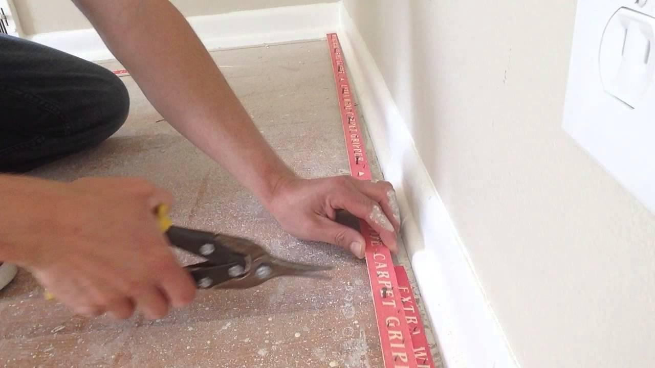How to install carpet tack strip carpettoolzcom  YouTube