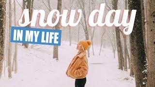 snow day in my life (high school senior)