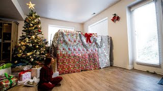 Wife Surprises Husband With HUGE CHRISTMAS GIFT!