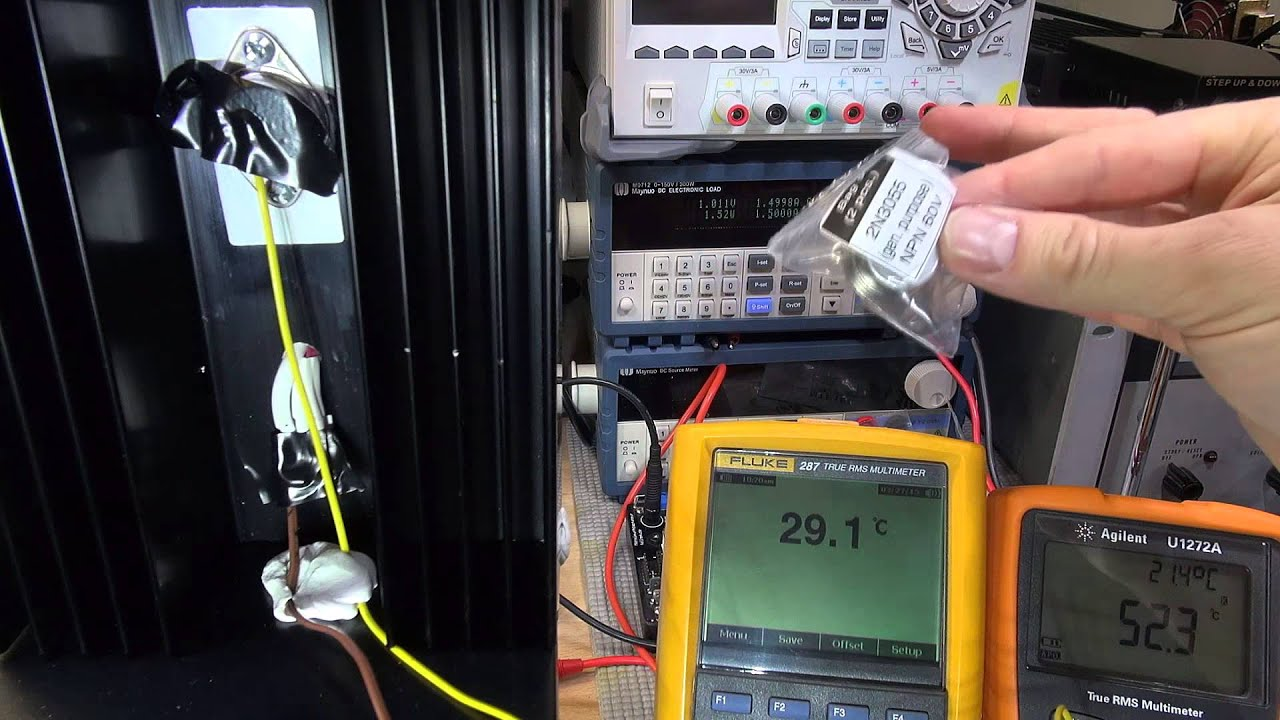 Diy Bench Power Supply 9 Transistors Under Load And Adjustment With Pots Youtube