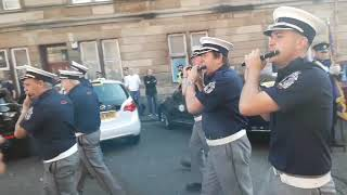 Pride of Govan flute band annual parade 2019