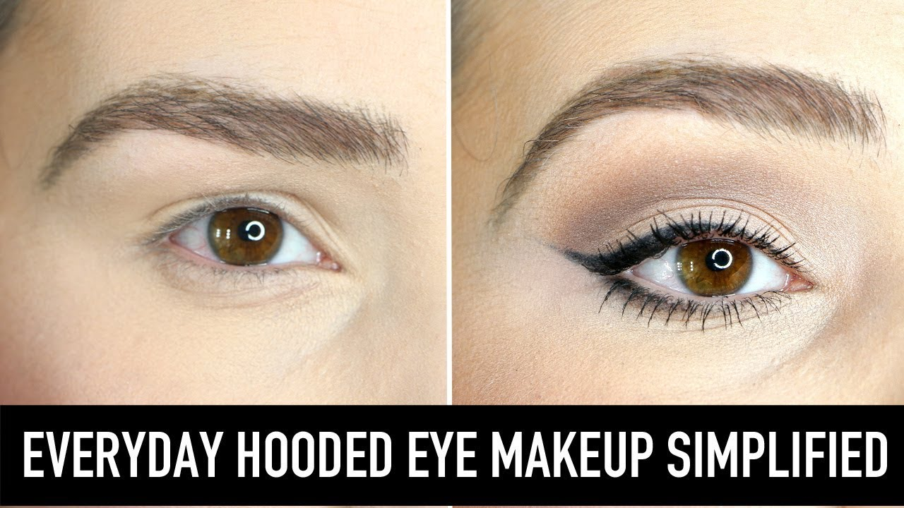 Eye Makeup for Hooded Eyes - How to apply eyeshadow, liner, brows
