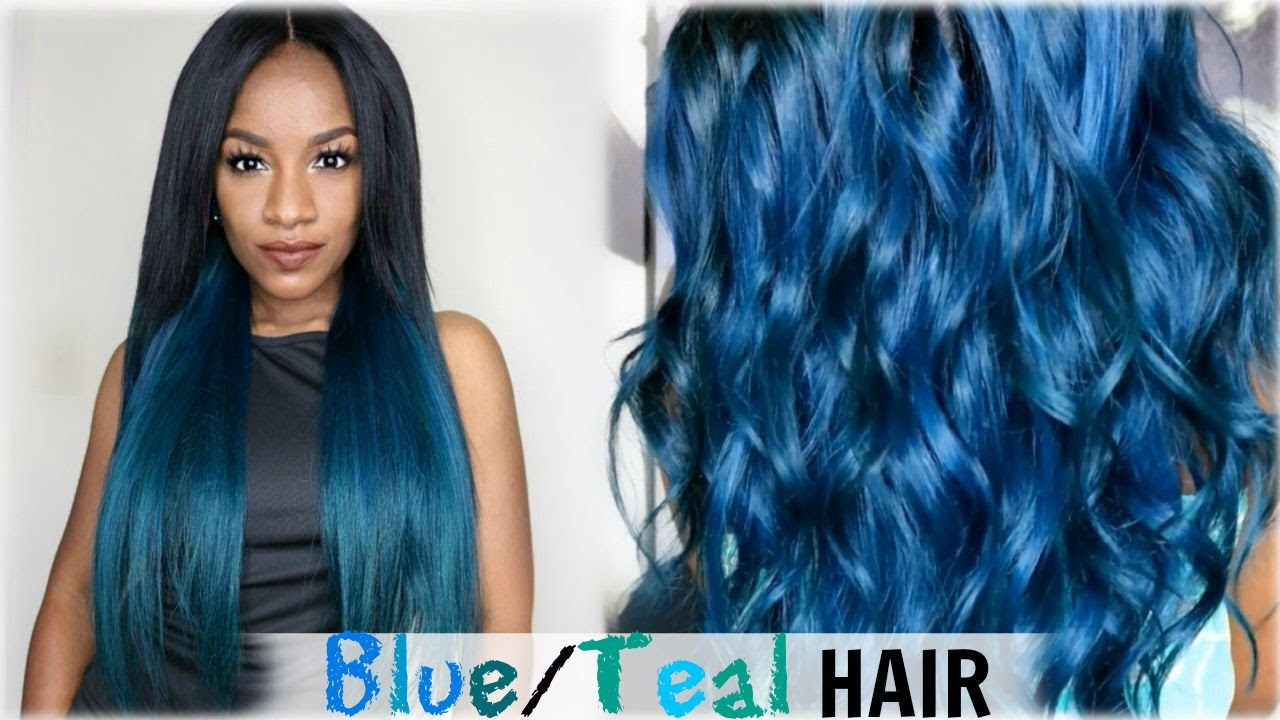 How To Aqua Blueteal Hair Colorcexxy Hair Aliexpress Youtube