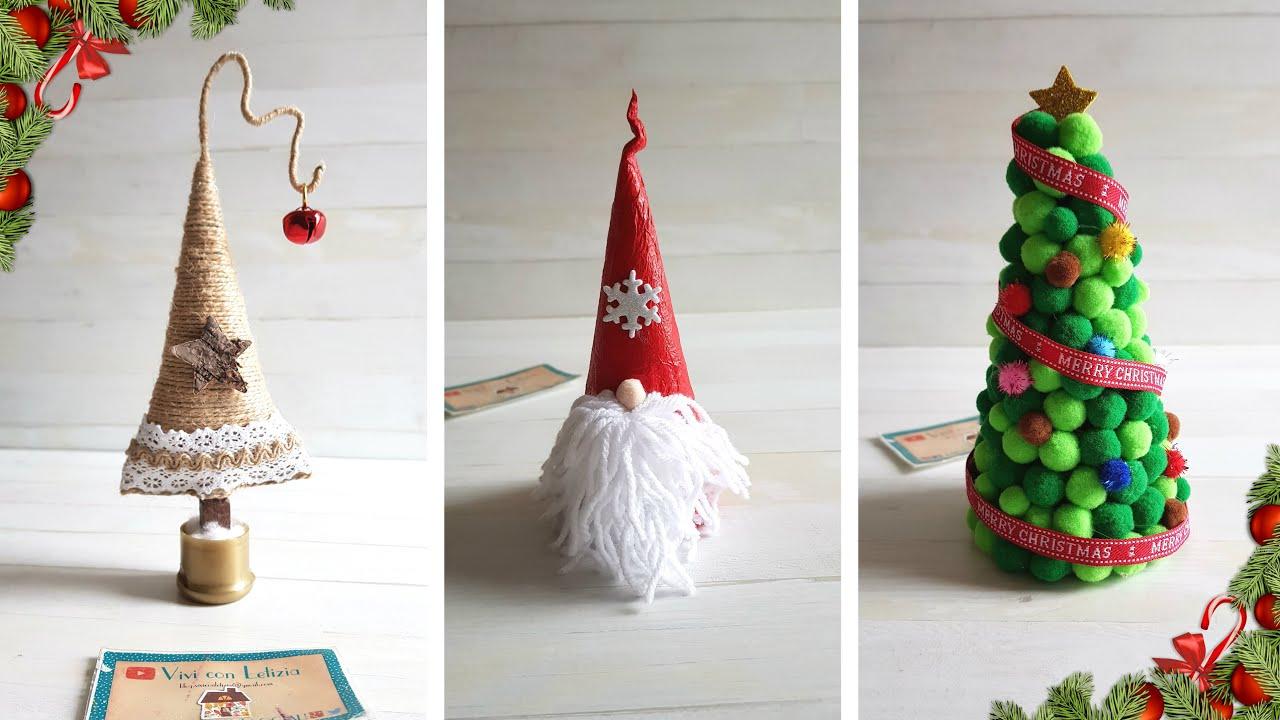 Idee Di Riciclo Per Natale riutilizzare carta cono gelato per natale: 3 idee - riciclo creativo  tutorial