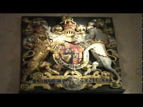 royal coat of arms at tower of london.MOV