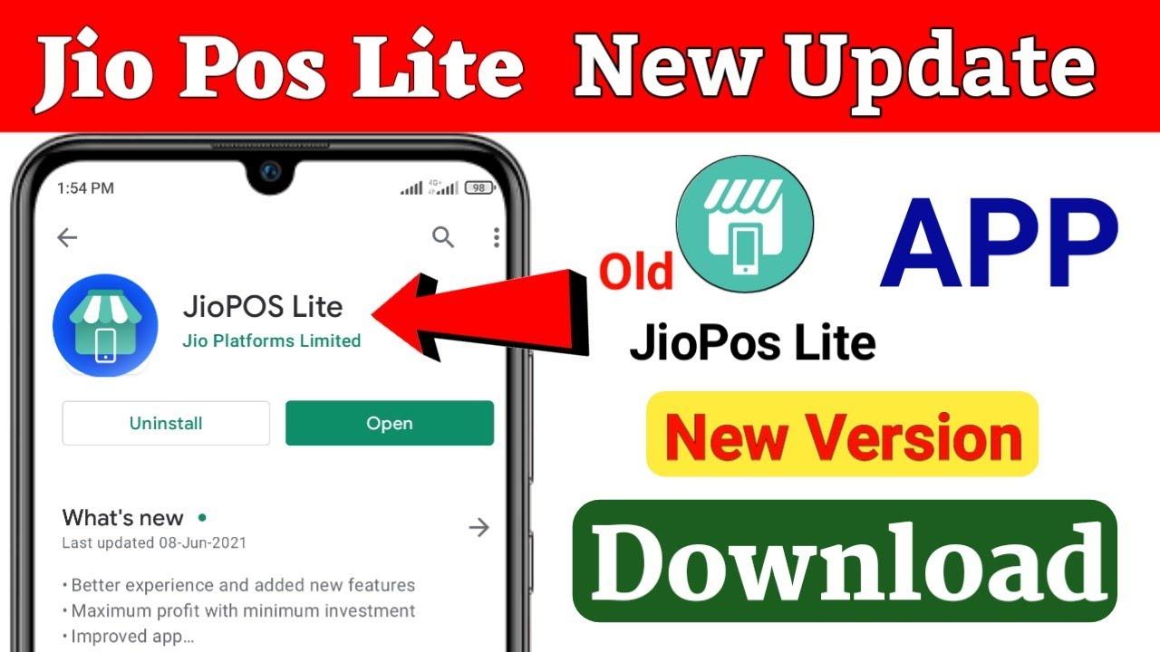 JioPos Lite New Update Change Logo JioPos Lite New Version Download नया  बदलाव New Future 2021