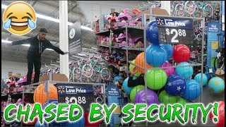 JUMPED IN THE BALL PIT AT WALMART! (CHASED BY SECURITY)
