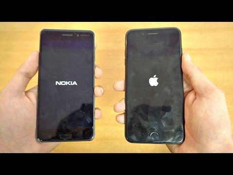 NOKIA 6 vs iPhone 7 Plus - Speed Test! (4K)