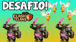 DESAFIO DE ATAQUE COM 3 P.E.K.K.A's E CURADORAS! | Clash Of Clans