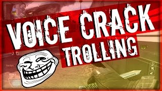 VOICE CRACK TROLLING!! On Bo2!