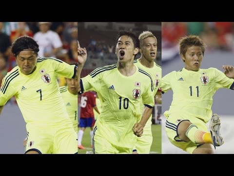コスタリカに逆転勝ち サッカーW杯強化試合
