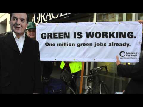 Reading Friends of the Earth Clean British Energy flashmob